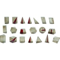 Sólidos Geométricos em Acrílico 20 Peças