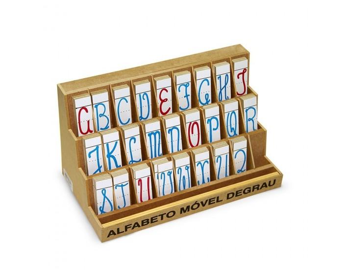 Alfabeto Móvel Degrau Cursivo com 130 Peças