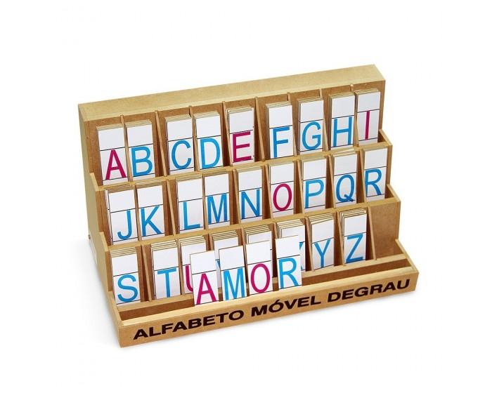 Alfabeto Móvel Degrau Forma com 130 Peças