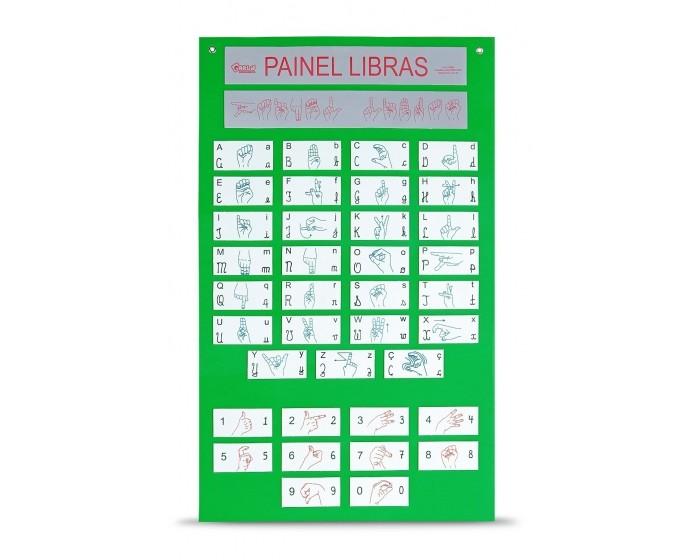 Painel de libras Alfabeto e numerais   EVA. 60x100cm