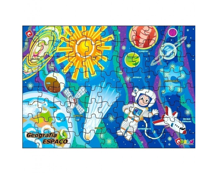 Quebra-Cabeça Geografia Espaço Cósmico