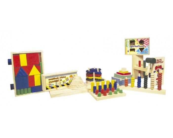 Kit com 10 Brinquedos Pedagógicos