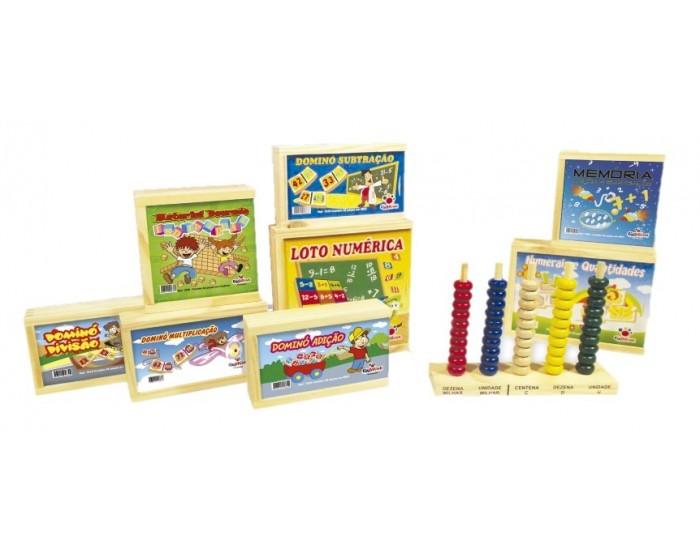 Kit com 10 Brinquedos de Matemática