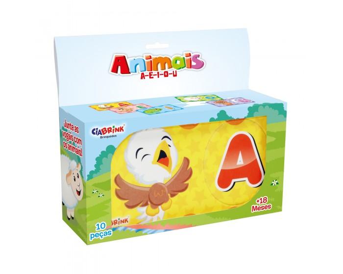 Jogo de Encaixe Animais A-E-I-O-U