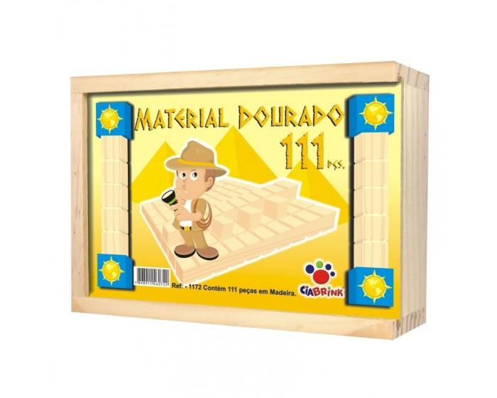 Material Dourado Individual com 111 Peças Cx em Madeira