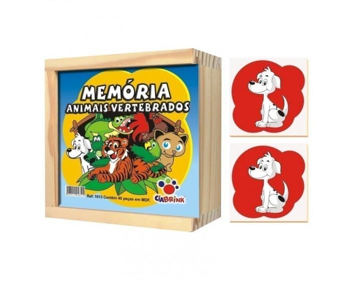 Jogo da Memória Animais Vertebrados Caixa em Madeira