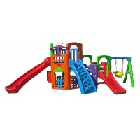 Playground Multiplay House com Kit Fly