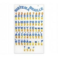 Braille Sistema Quadro em EVA com 54 Peças