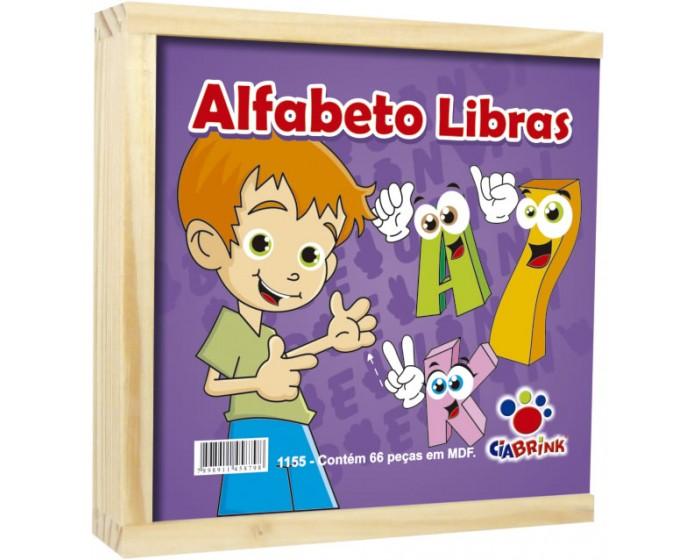 Alfabeto Libras Cx em Madeira