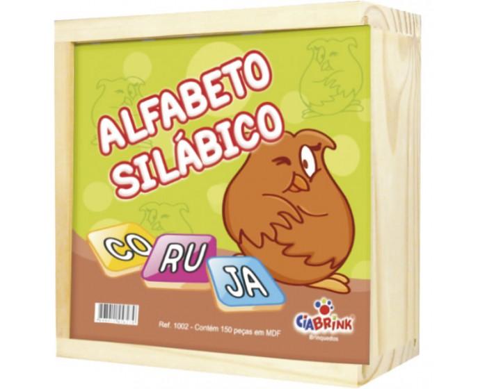 Alfabeto Silábico com 165 Peças Cx em Madeira