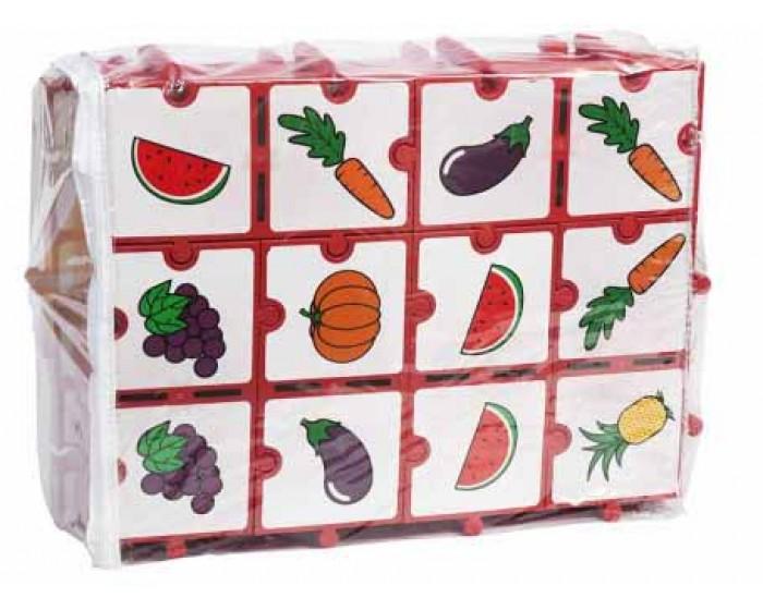 Jogo de Dominó Gigante Frutas e Legumes com Encaixe
