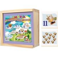 Jogo da Memória Numerais e Quantidades Cx em Madeira