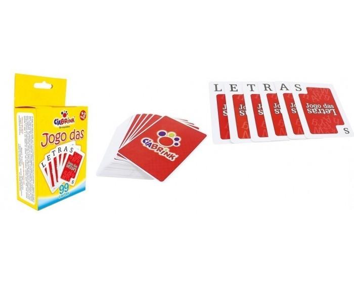 Jogo das Letras de Baralho com 99 Cartas em Caixa Cartonada