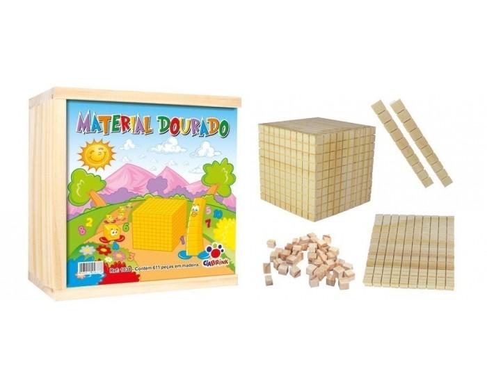 Material Dourado 611 Peças Cx em Madeira
